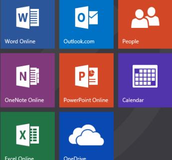 Office Online apps tiles