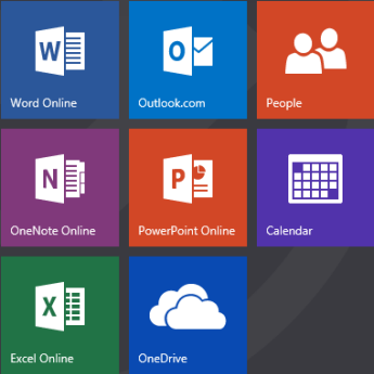Office Online apps tiles