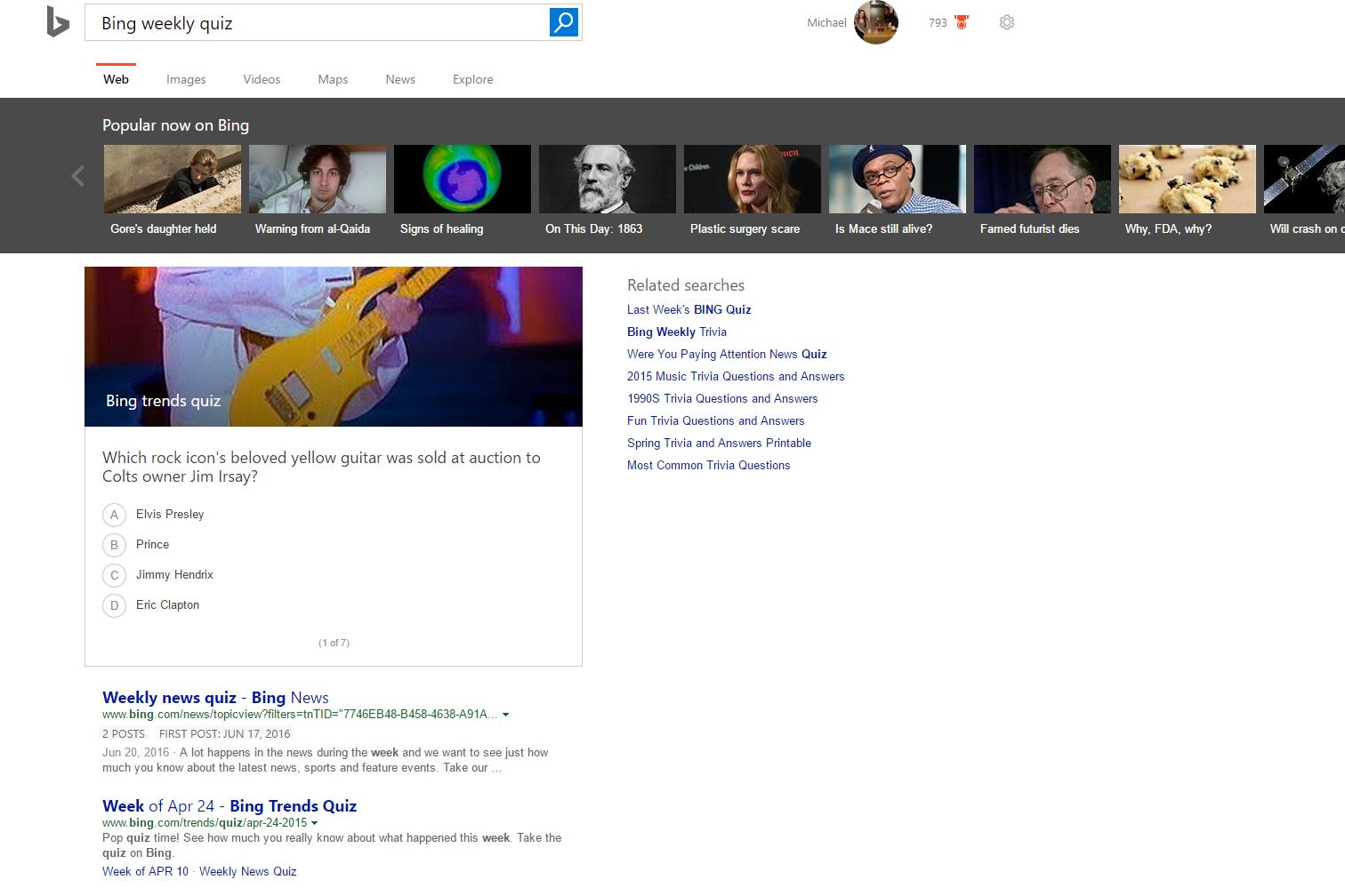 سنجش اطلاعات هفتگی با بینگ. اخبار مایکروسافت در مایکروسافت می
