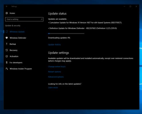 بیلد 14393.5 ویندوز 10 رایانه و موبایل اخبار مایکروسافت در مایکروسافت می