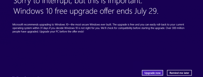 مایکروسافت برای ارتقا به ویندوز 10 اعلان تمام صفحه به کاربران نشان خواهد داد اخبار ویندوز 10 در مایکروسافت می