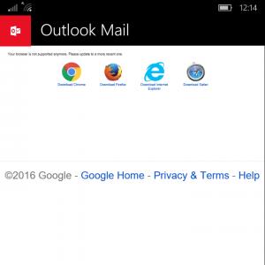 قطع دسترسی کاربران ویندوز موبایل به اکانت گوگل از طریق Outlook, اخبار مایکروسافت در مایکروسافت می