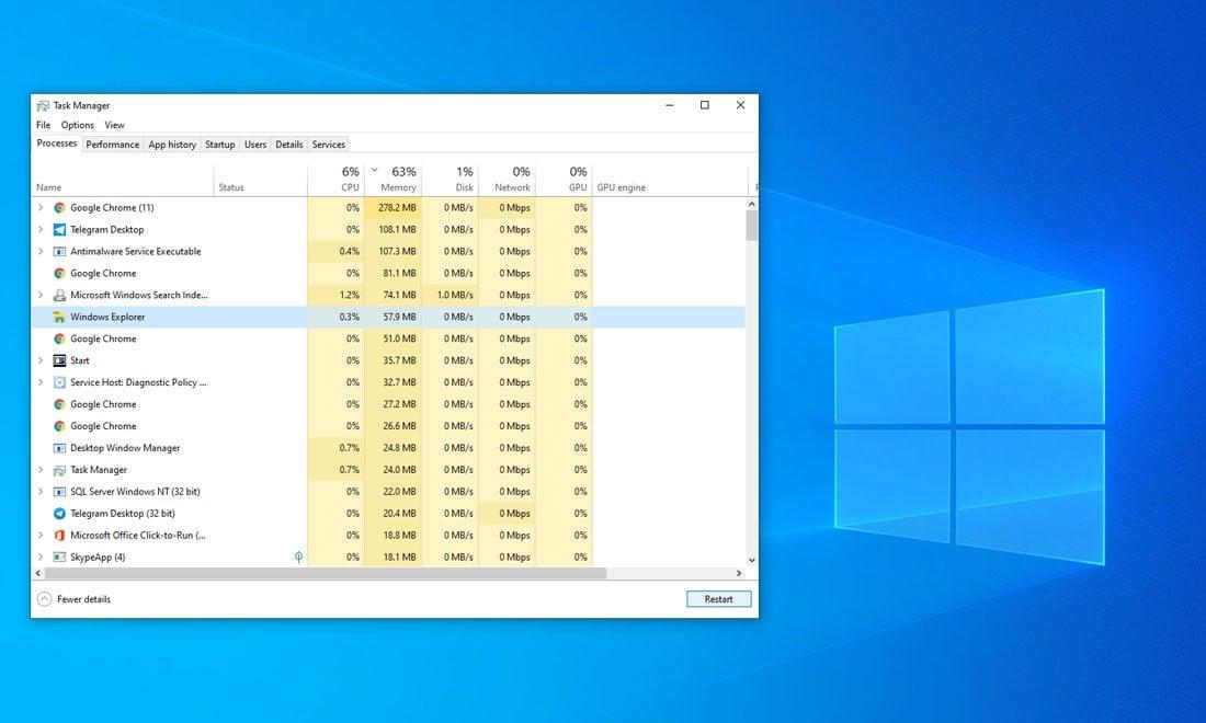رفع مشکل کار نکردن search ویندوز 10 با ویندوز اکسپلورر