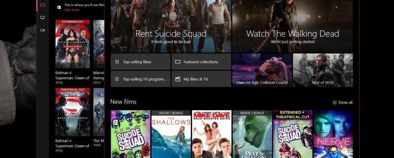 films and tv ویندوز 10 دسکتاپ