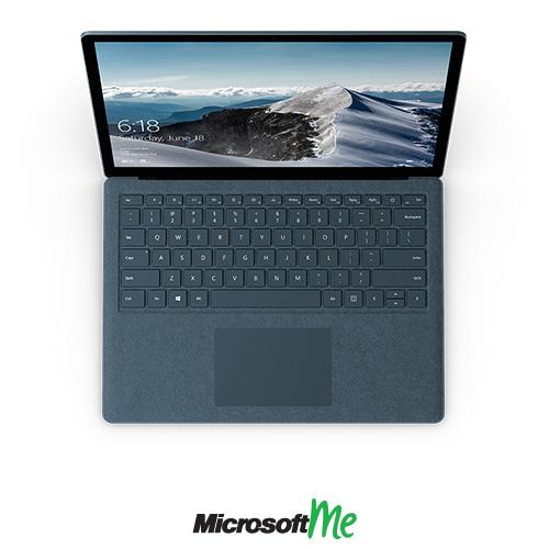 سرفیس لپ تاپ رنگ آبی کبالت نمای بالا