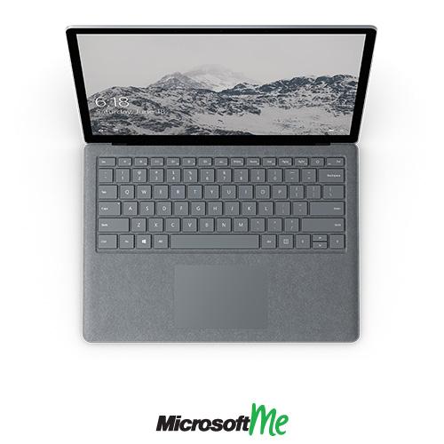 سرفیس لپ تاپ رنگ پلاتینی نمای بالا