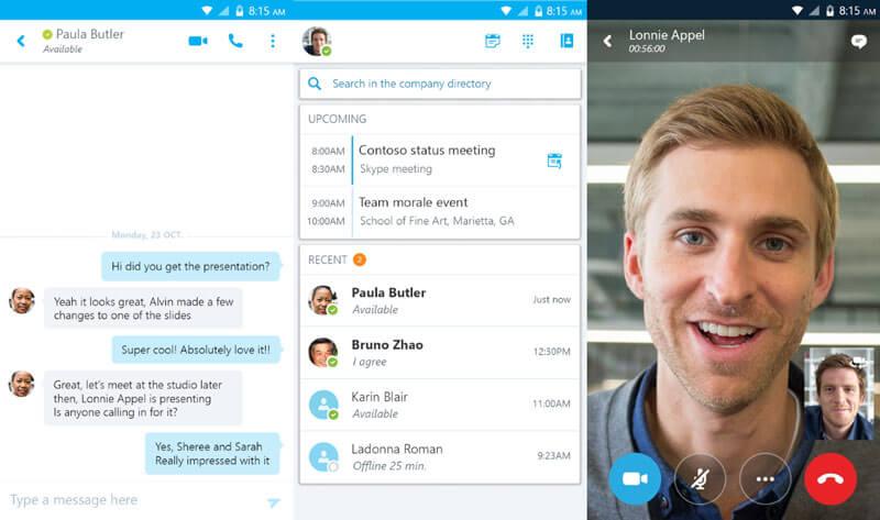 اپلیکیشن اسکایپ در اندروید