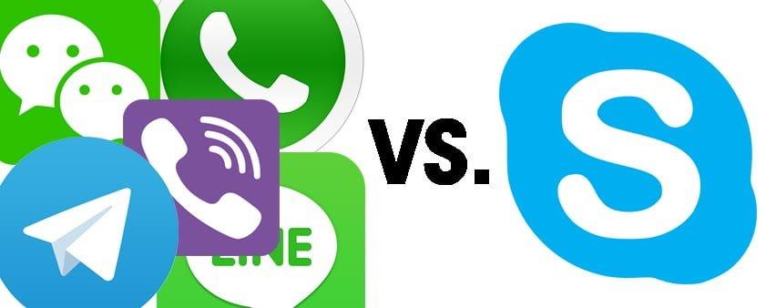 تفاوت اسکایپ با تلگرام و واتساپ چیست؟