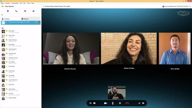 تماس ویدئویی در اسکایپ