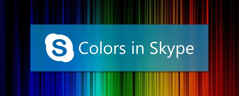 معنی رنگ ها در اسکایپ