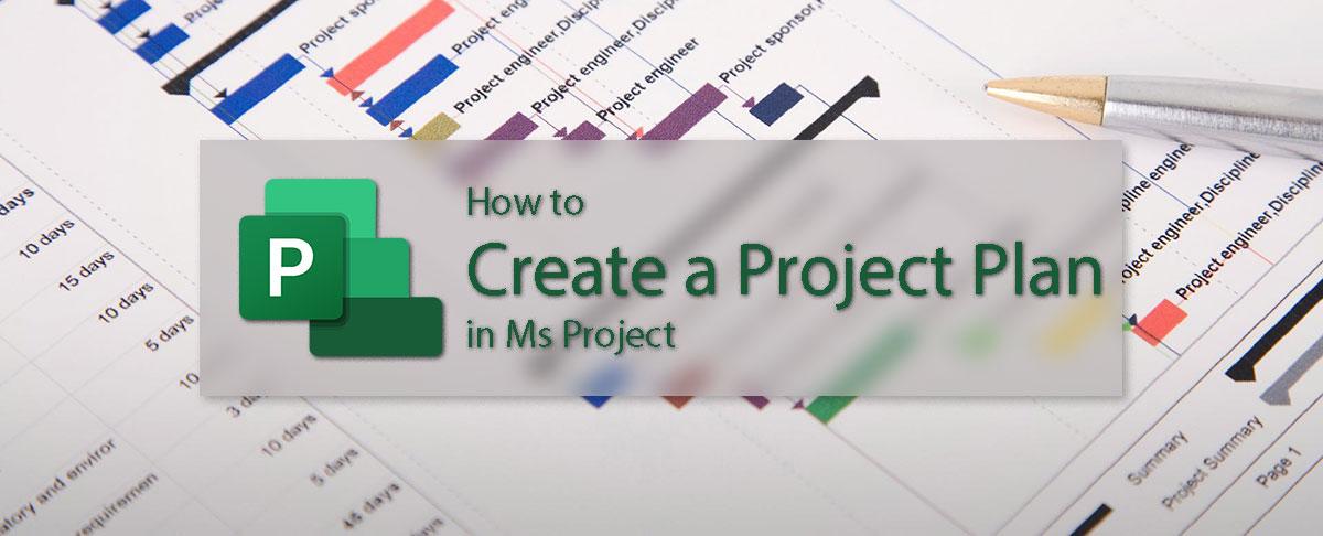 ایجاد پروژه در مایکروسافت پراجکت