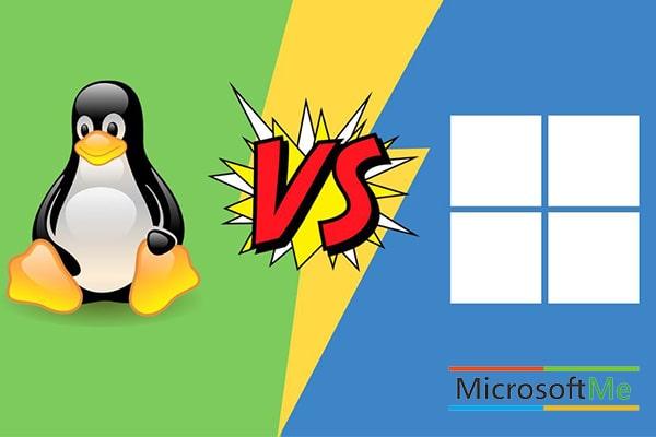 تفاوت لینوکس و ویندوز
